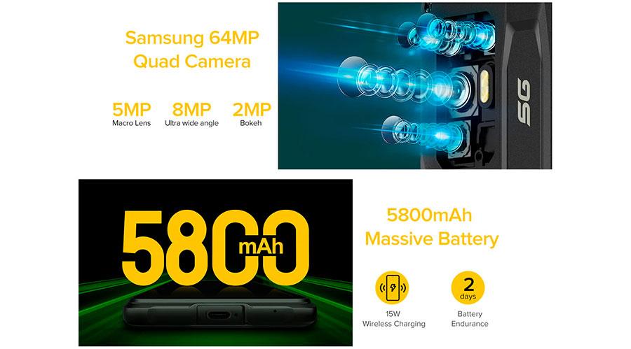 Ulefone Armor 10 5G работает на флагманском чипсете MediaTek Dimensity 800