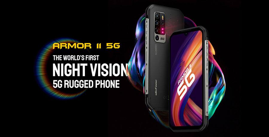 Ulefone Armor 11 5G 8/256Gb Black первый в мире противоударный смартфон с пентакамерой, ночным видением и 5G в 2021 году