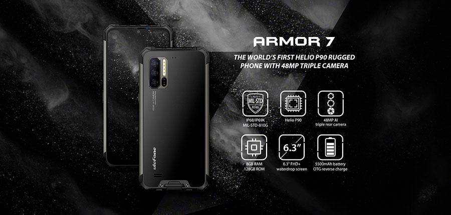 Ulefone Armor 7 8/128GB Black мартфон, объединяющий высокую надежность и функциональность в одном корпусе