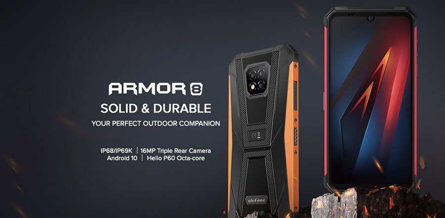 Ulefone Armor 8 4/64GB Black имеет функционал флагмана и защиту по IP68 стандарту