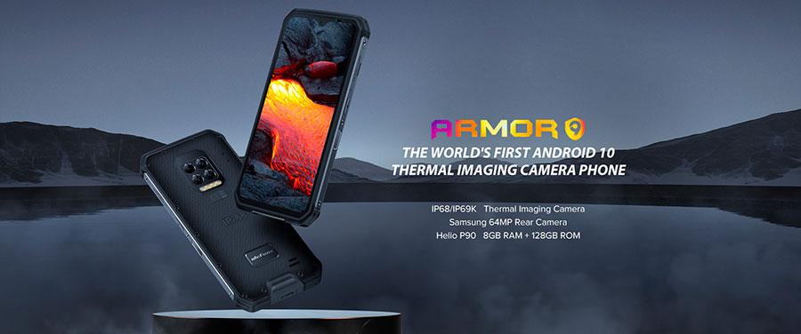 Ulefone Armor 9 8/128GB Неубиваемый смартфон с Android 10, тепловизором и эндоскопом.