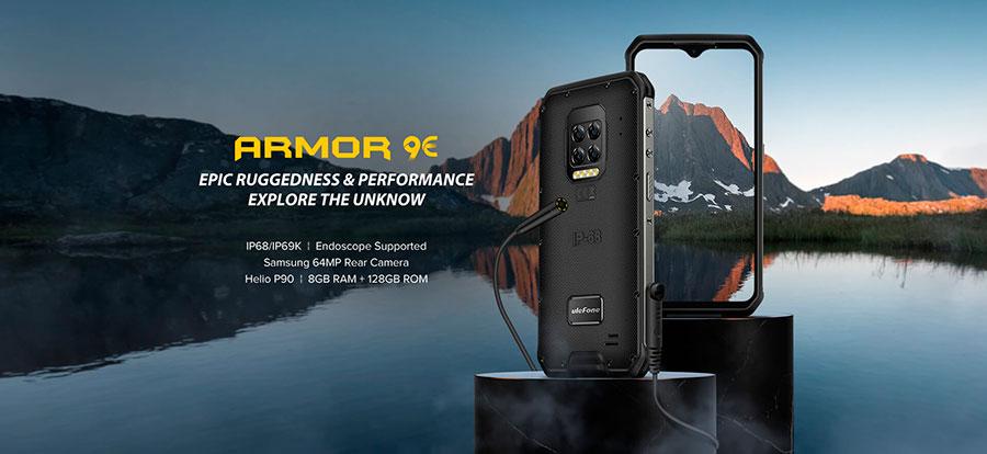 Ulefone Armor 9E вместо тепловизора Flir имеет 4 камеры