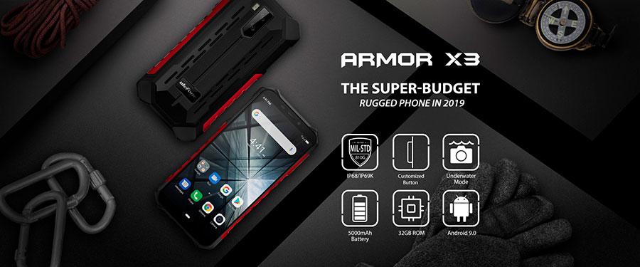 Ulefone Armor X3 2/32GB Black вы можете без труда делать снимки и записывать видео под водой, кроме этого вы можете управлять им одной рукой