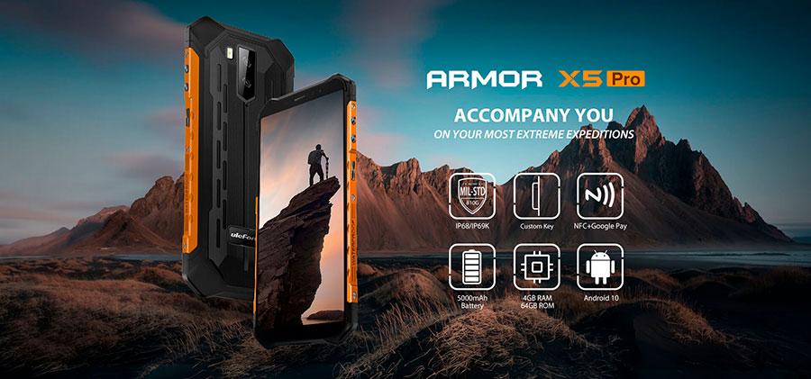 Ulefone Armor X5 Pro 4/64GB Black построен на базе однокристальной системы MediaTek Helio A25