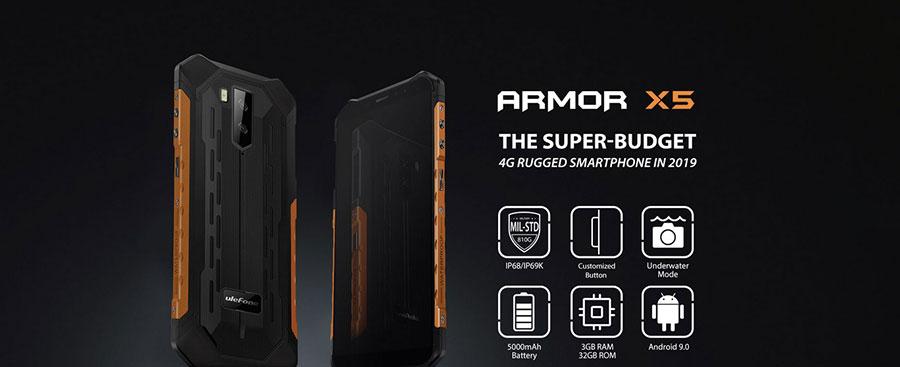 Ulefone Armor X5 3/32GB Black имеет 5,5 дюймов IPS-дисплей с разрешением 720 x 1440 px. Технология IPS является одной из самых передовых ЖК-технологий в мире.