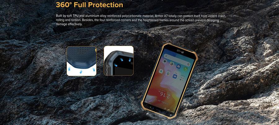 Ulefone Armor X7 Pro 4/32GB Black работает на Android OS v10.0 из коробки. Он поставляется с батареей Li-Po 4000 mAh