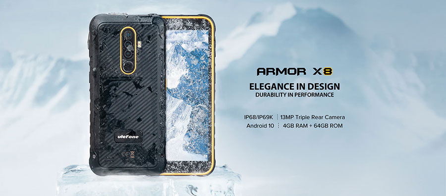 Ulefone Armor X8 4/64GB Yellow получил сертификаты защиты IP68, IP69K, MIL-STD-810G