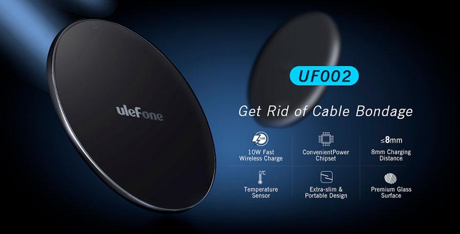 UF002 10W Qi Wireless Charging Pad новая беспроводная зарядка для смартфонов Ulefone